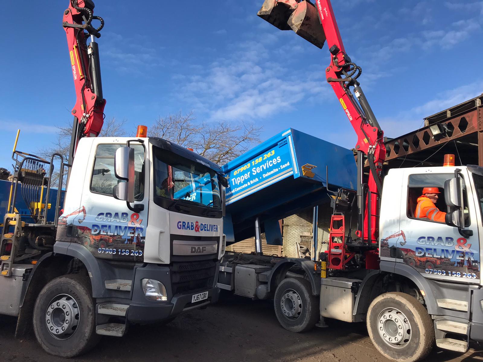 Tipper And Grab Lorries Stanhope